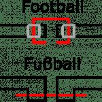 Naht eines Fußballs und Footballs im Vergleich